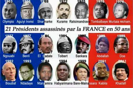 LES RAISONS DE L'ASSASSINAT DE 22 PRÉSIDENTS AFRICAINS PAR LA FRANCE
